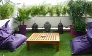 Trang trí quán cà phê bẳng thảm cỏ nhựa Hà Nội